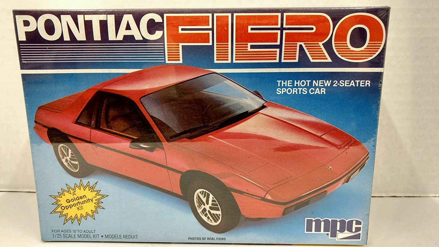 Mpc 1 0883 1984 Pontiac Fiero 125 Scale Plastic Model Kit Requires Assembly Toys Games