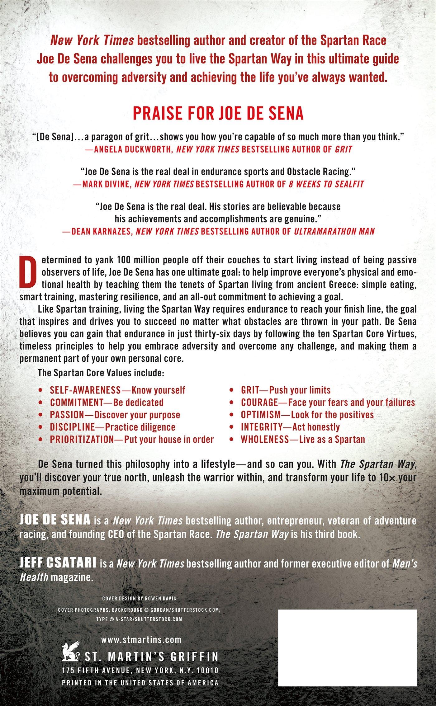 The Spartan Way: Eat Better. Train Better. Think Better. Be Better.: Joe De  Sena: 9781250153210: Amazon.com: Books