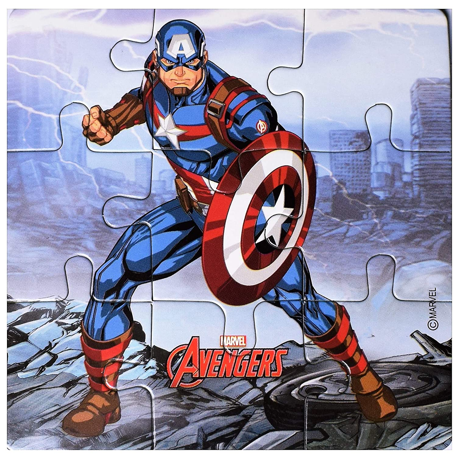 Total 45 Pieces Pack of 5 Myesha Toys Marvel Avengers Zigsaw Puzzle