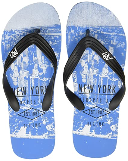 1cb2ff5dbb4a Aeropostale Men s Samuel Blue Flip Flops Thong Sandals-10 UK India (44 EU
