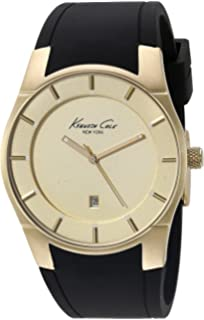 Kenneth Cole New York Mens 10027722 Slim Analog Display Japanese Quartz Black Watch