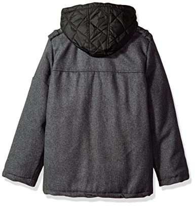 36a902ec3b2f Amazon.com  iXtreme Boys  Toddler Wool Patches Coat W Quilted 2fer ...