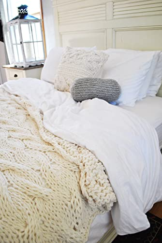 king size chunky cable blanket ready to ship - King Size Blanket