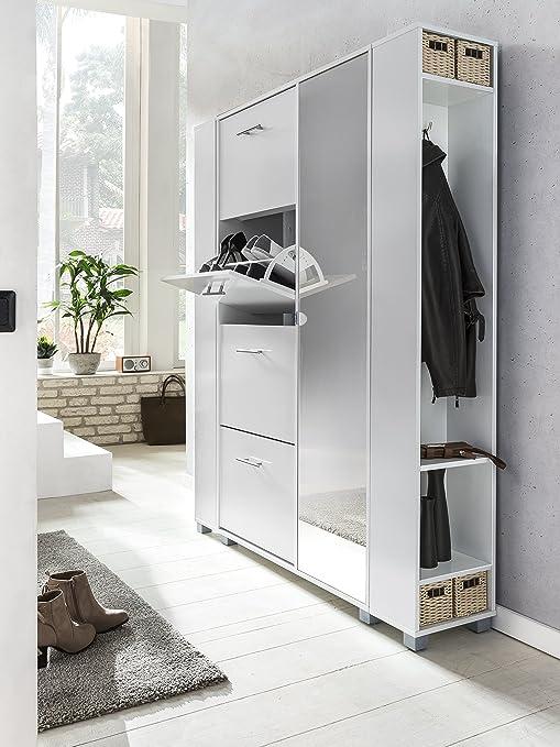 Schildmeyer Nadin Garderobe Schuhschrank Holzdekor Weiss 30 1 X