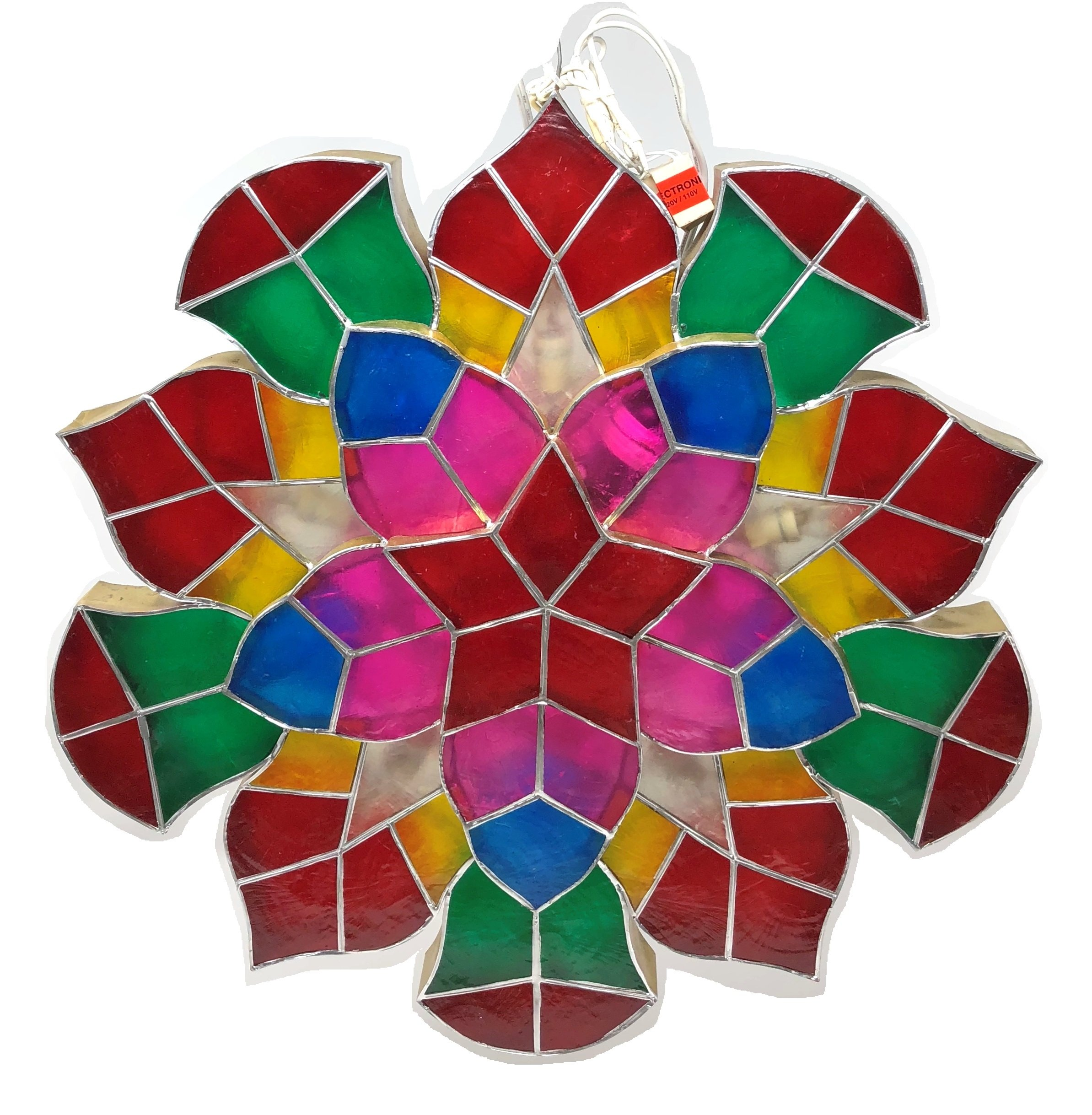 Gift Ko Handmade Parol Traditional Philippine Christmas Lantern, Sampabell, 18 inch, Multicoloured by Gift Ko