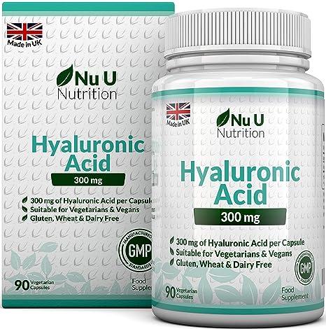 Ácido Hialurónico 300 mg - 90 Cápsulas (Suministro Para 3 Meses) - Tres Veces