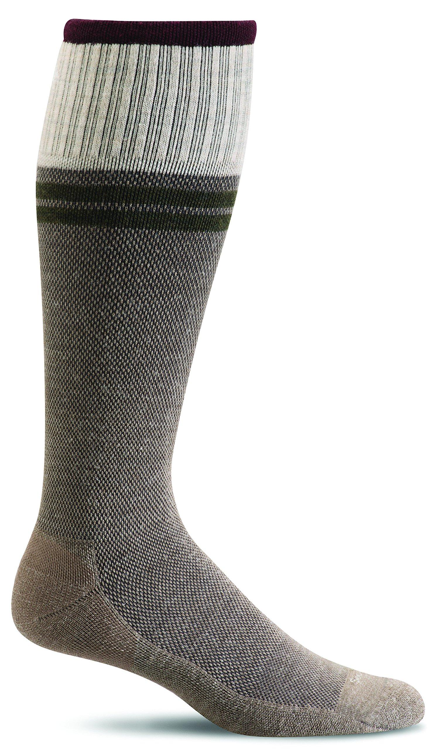 Sockwell Mens Wool Moderate Sportster Compression Socks (Khaki, M/L)