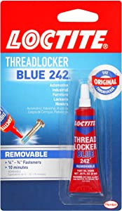 LoctiteHeavy Duty Threadlocker, 0.2 oz, Blue 242, Single