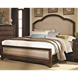 Coaster 203261KE Laughton Cocoa Brown Casual E King Upholstered Bed