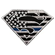 Superman Thin Blue Line Morale Patch Police Law Enforcement