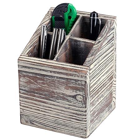 Amazon.com: MyGift - Estuche de madera con 4 ranuras para ...