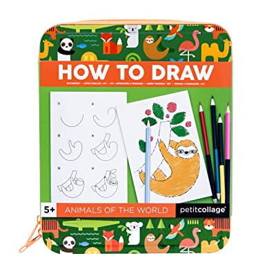 Petit Collage Animals of The World How to Draw Travel On-The-Go Activity Set: Toys & Games
