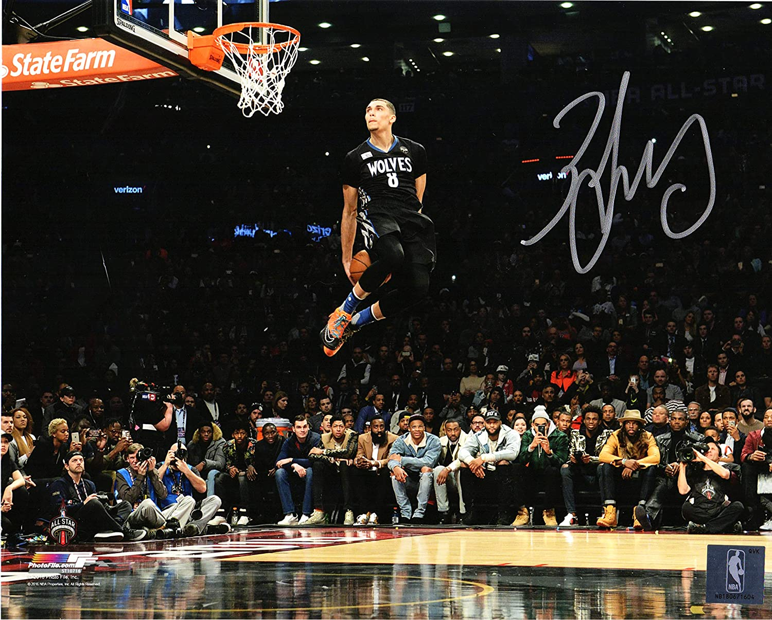 Zach LaVine Signed Minnesota Timberwolves 2016 NBA Slam Dunk Contest 8x10  Photo at Amazon s Sports Collectibles Store a524caf33