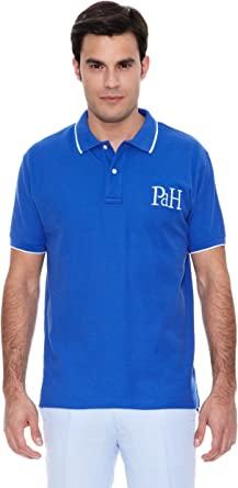 Pedro del Hierro Polo Big Logo Tips Azul L: Amazon.es: Ropa y accesorios