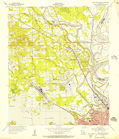 Amazoncom Louisiana Maps North Shreveport LA USGS - Historic maps louisiana