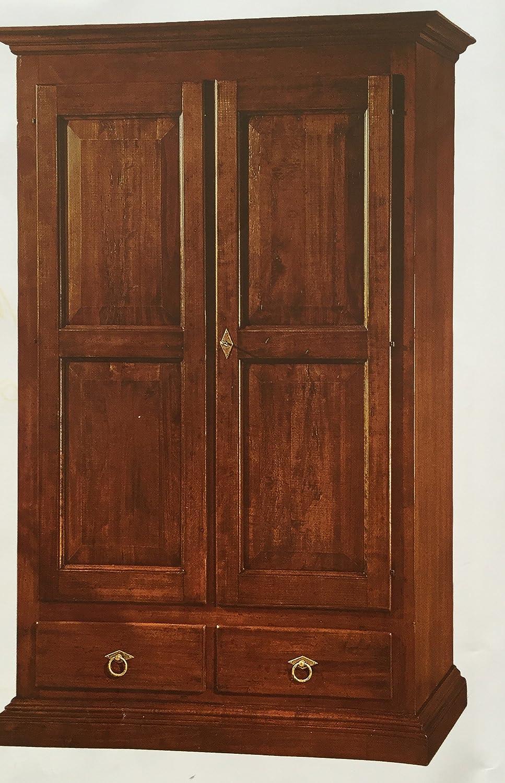 Armadio arte povera in legno massello: Amazon.it: Casa e cucina