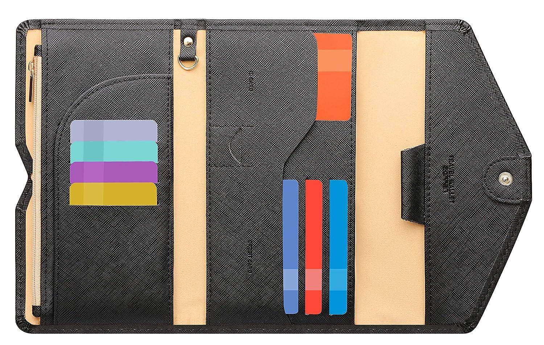 Ver.4 Zoppen Mulit-Purpose RFID Blocking Travel Passport Wallet Tri-fold Do...