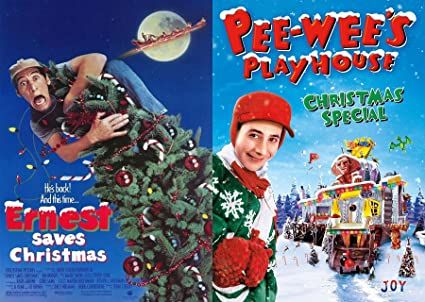 pee wees playhouse christmas special ernest saves christmas dvd wacky holiday double feature - Ernest Saves Christmas