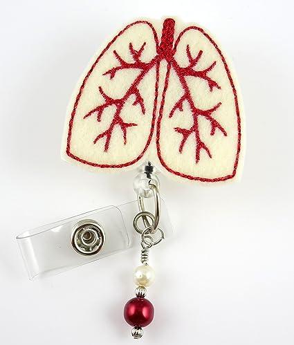 Lung - Nurse Badge Reel - Retractable ID Badge Holder - Nurse Badge - Badge  Clip - Badge Reels - Pediatric - RN - Name Badge Holder