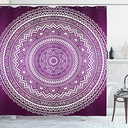 Octopus Shower Curtain with 12 Hooks for Bathroom Curtain Decor Hippie Cover Art