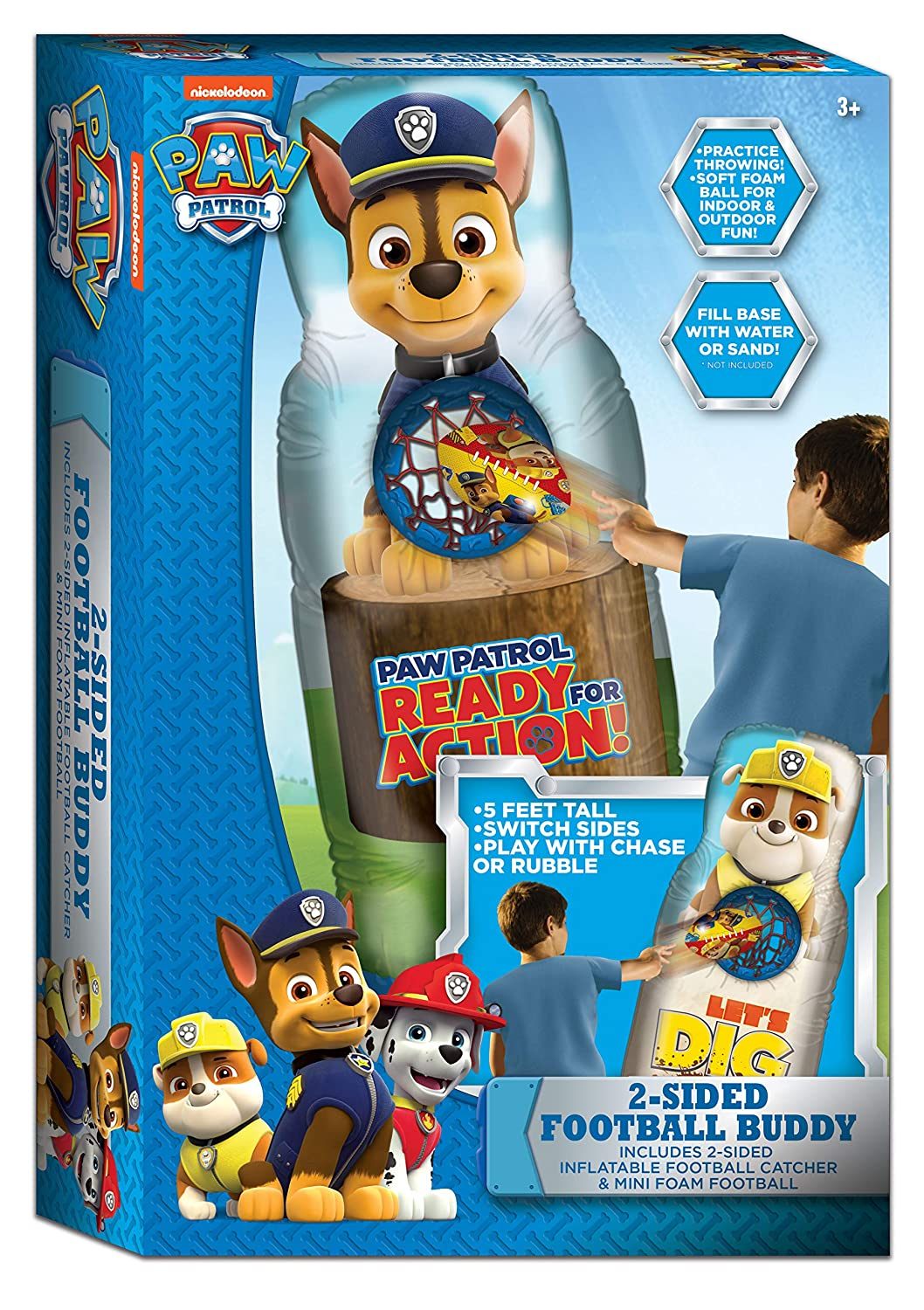 Amazon.com: Paw Patrol inflable fútbol Buddy: Sports & Outdoors