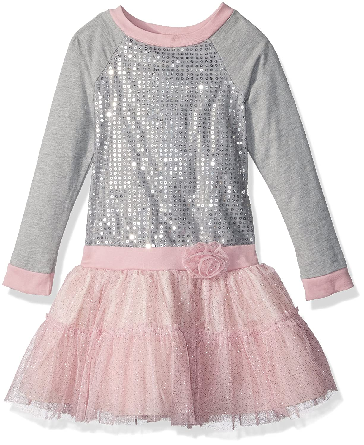 1920s Children Fashions: Girls, Boys, Baby Costumes  Girls Dress with Sequin Bodice and Flower Trim $27.99 AT vintagedancer.com