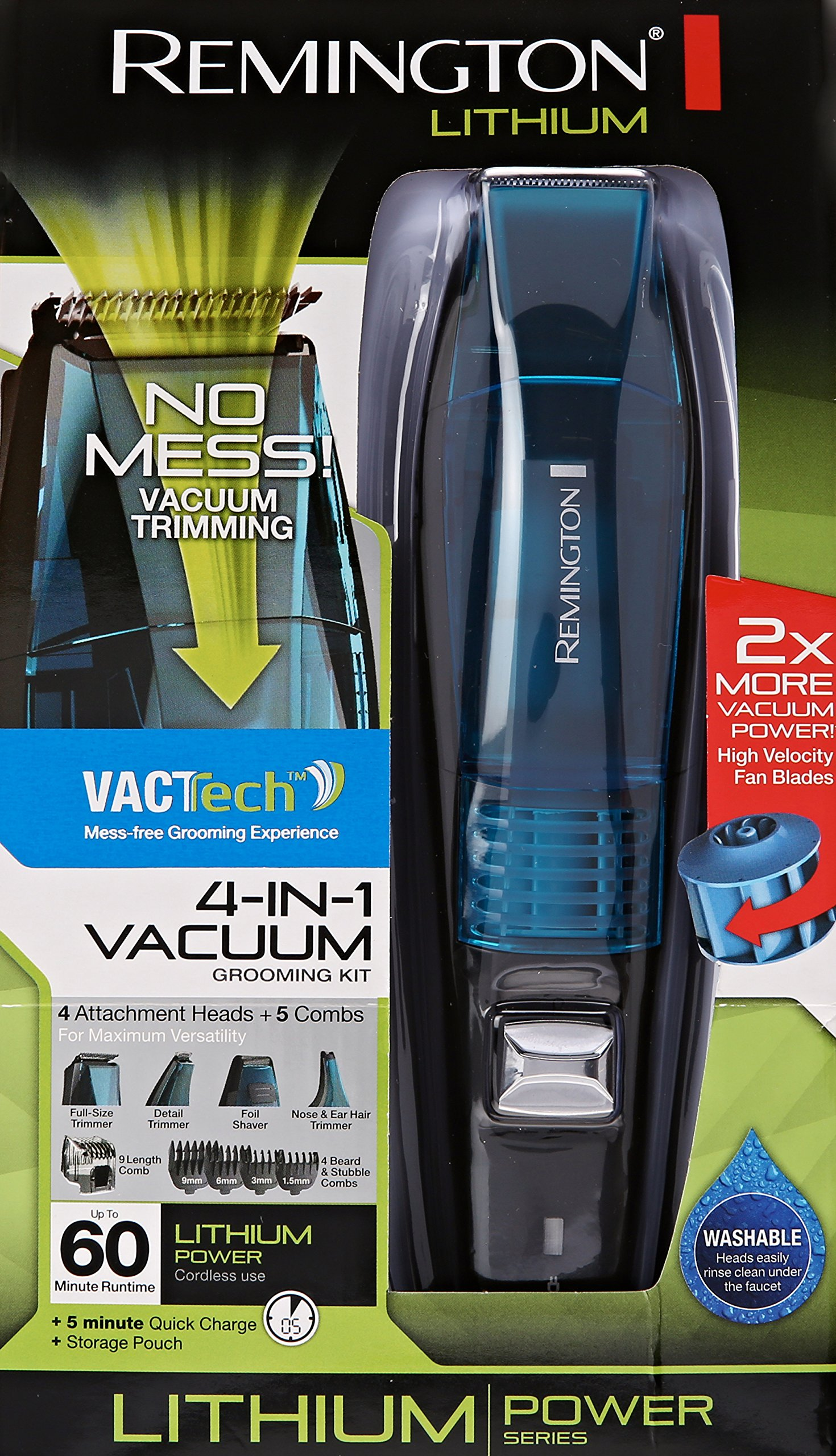 Remington VPG6530 Lithium Power Series 4 In 1 Vacuum Trimmer, Blue by Remington (Image #7)