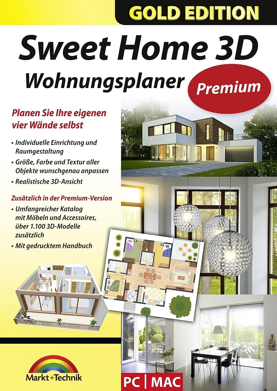 Sweet Home 3D Wohnungsplaner   Premium Edition Mit Zusätzlichen 1.100 3D  Modelle Und Gedrucktem Handbuch, Ideal Für Die Architektur, Haus Und  Wohnplaner ...