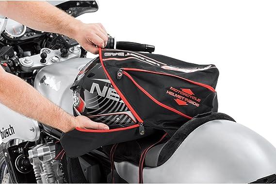 Multipurpose Toute lann/ée QBag Sac /à Dos de Moto Sac /à Dos pour Casque Noir//Rouge 16-22 liters Unisexe
