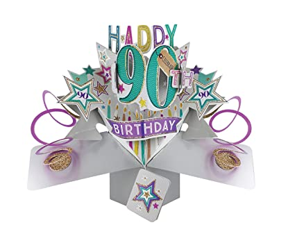 Amazon Second Nature POP166A 90th Birthday Pop Up Card Office Products