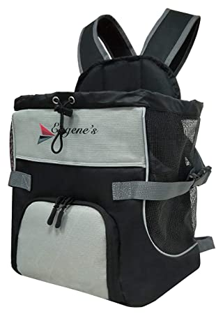 Eugene's Front Dog Cat Pet Carrier, Dog Backpack Bag Free Your Hands  Use  as: Dog Carrier, Cat Carrier, Carrier for Small Pets  New Generation of Dog