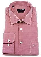 Seidensticker Herren Langarm Hemd Uno Regular Fit rot / weiß strukturiert 132020.46