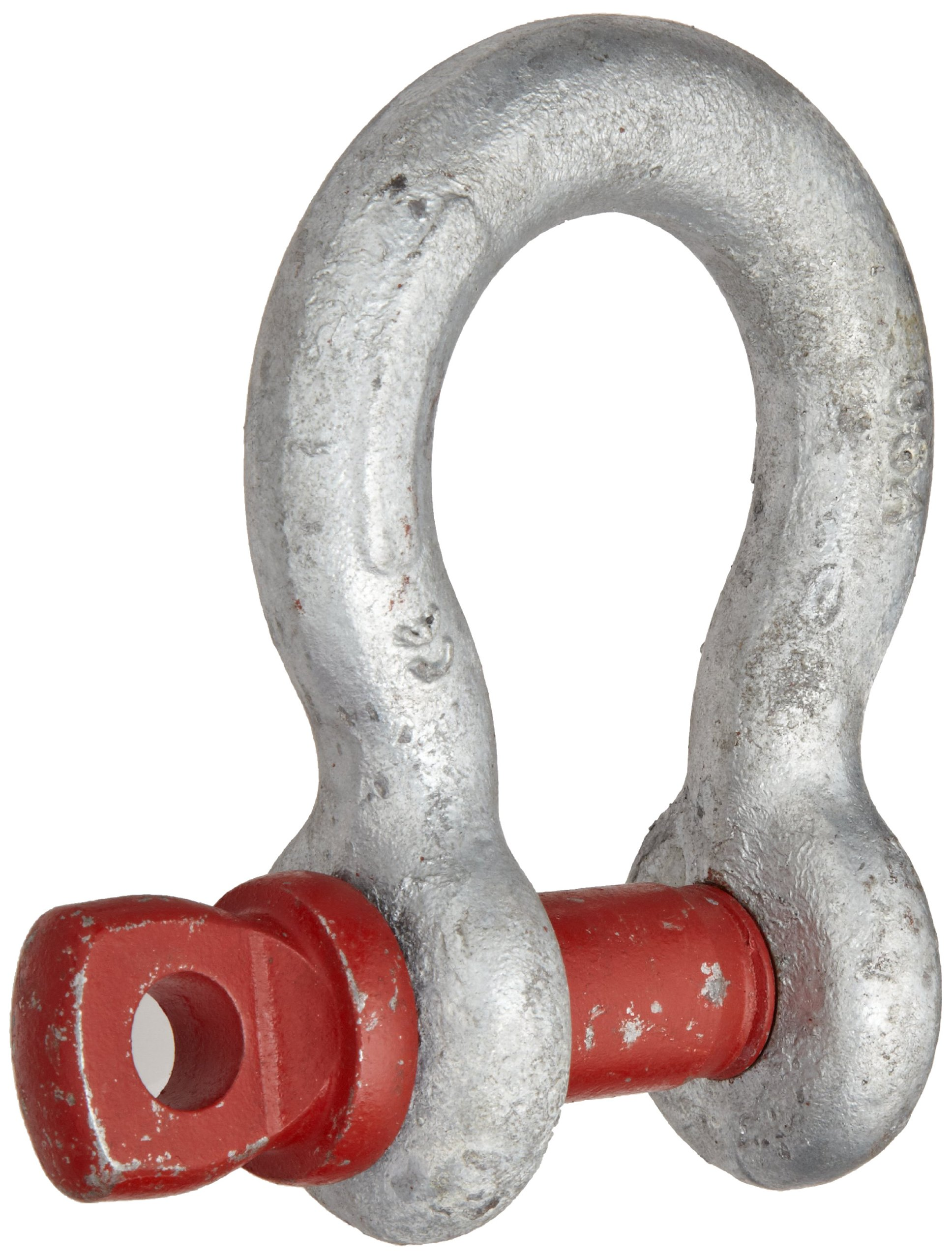 Crosby 1018491 Carbon Steel G-209 Screw Pin Anchor Shackle, Galvanized, 4-3/4 Ton Working Load Limit, 3/4'' Size