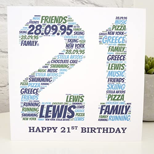 Personalized 21st Card Birthday