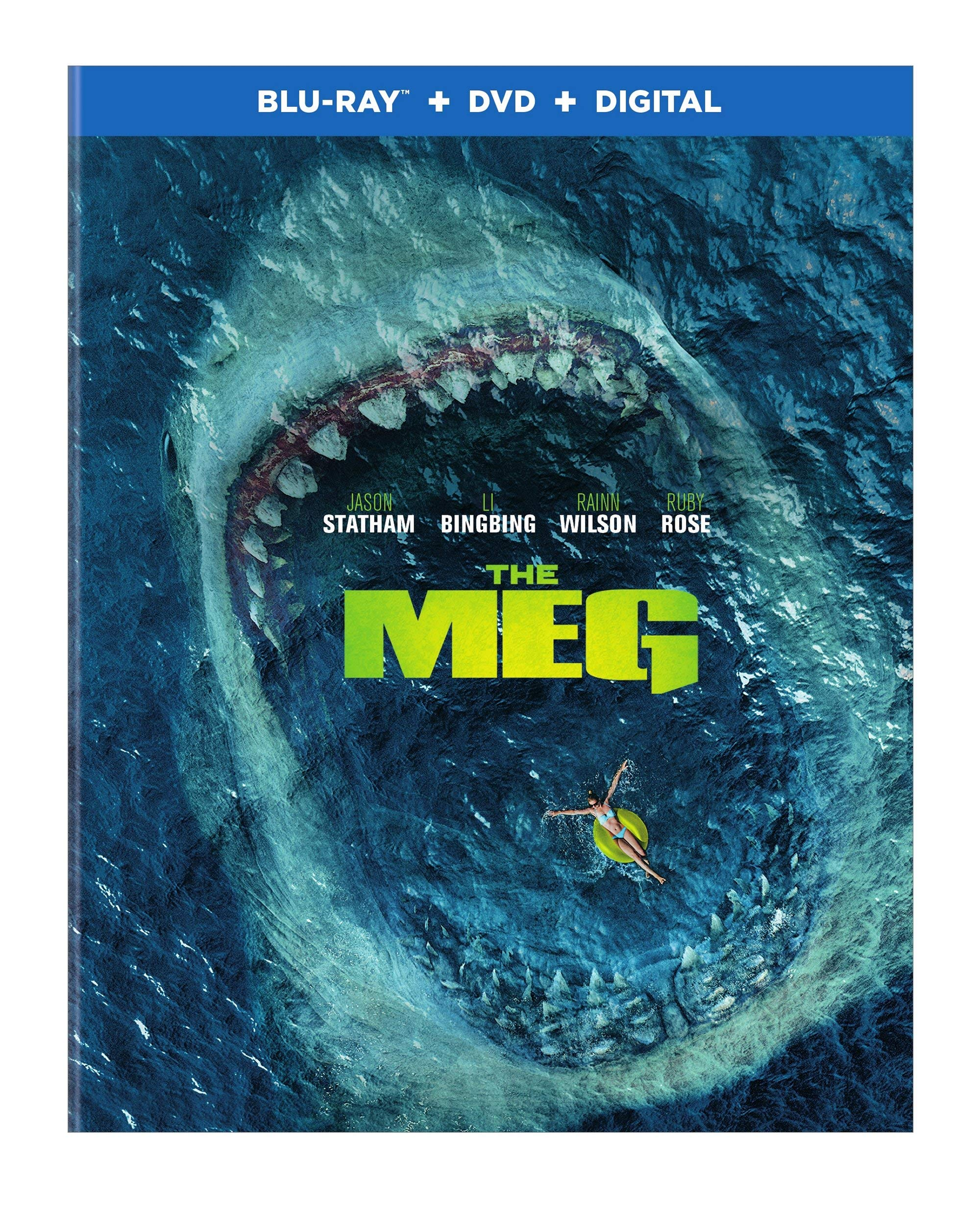 Blu-ray : The Meg (With DVD, Ultraviolet Digital Copy, Digital Copy, 2 Pack)