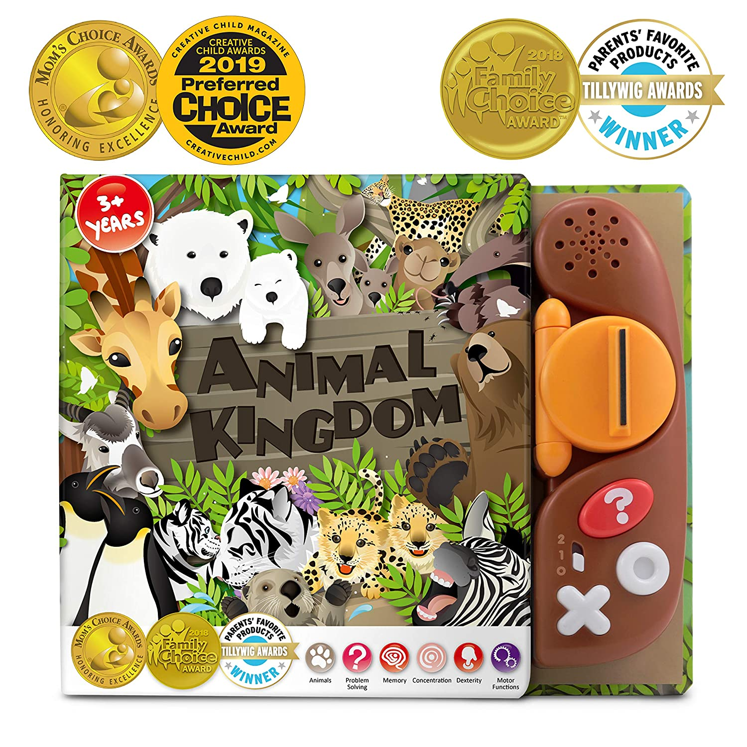 BEST LEARNING Book Reader Animal Kingdom - Educational Talking Sound Toy to  Learn About Animals with Quiz Games for Kids of Ages 3 to 8 Years