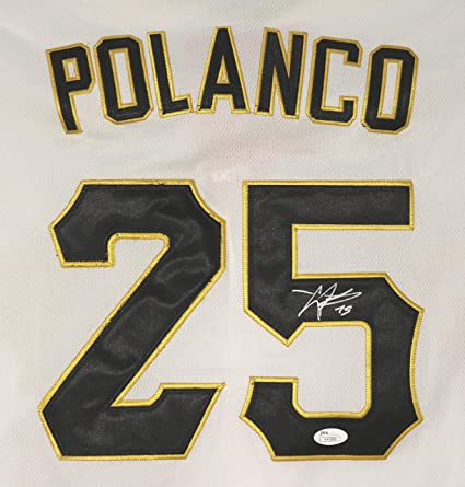 reputable site fc351 7f855 Gregory Polanco Pittsburgh Pirates Signed Autographed White ...