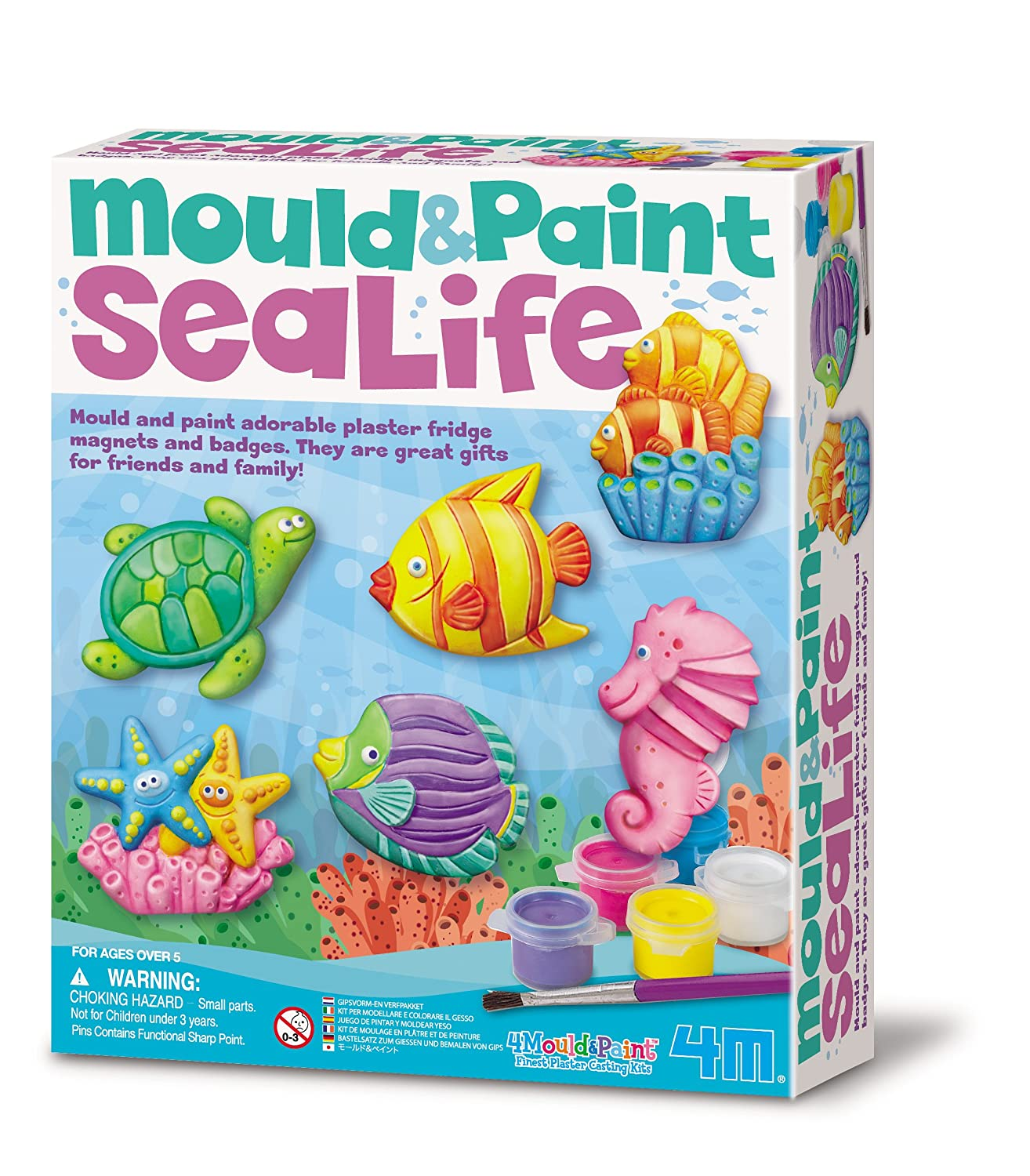"4M ""Sealife"" Mould and Paint Multi Colour Amazon Toys"