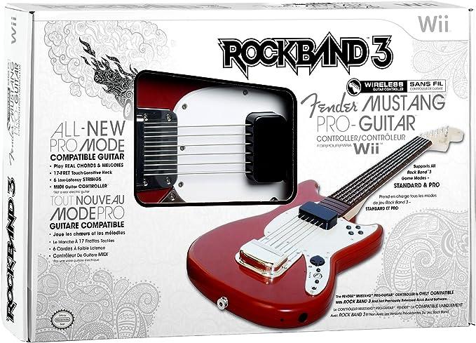 Mad Catz - Guitarra Rock Band 3 Inalámbrico, Color Rojo (Nintendo ...