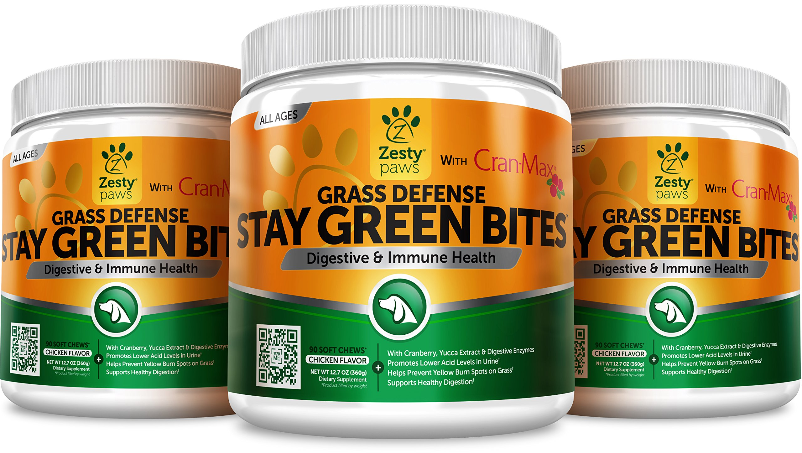 Grass Burn Spot Chews for Dogs - For Lawn Spots Caused by Dog Urine - Cran-Max Cranberry for Urinary Tract, Kidney & Bladder - Apple Cider Vinegar + Digestive Enzymes & DL-Methionine - 90 Chew Treats by Zesty Paws (Image #4)