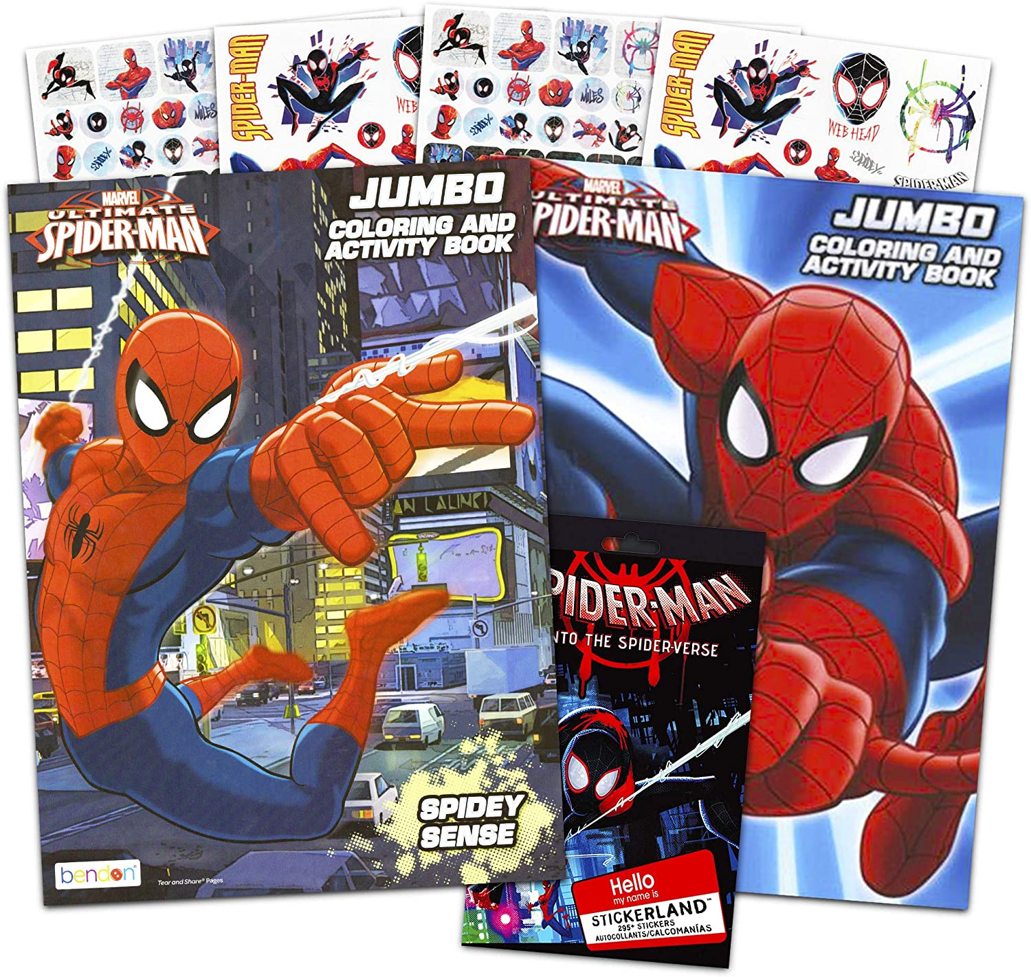 Amazon Com Marvel Spiderman Coloring And Activity Book Set With Stickers 2 Books Toys Games