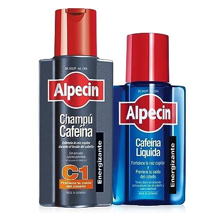 Alpecin Champú Cafeína C1, 250 ml + Alpecin Cafeína Líquida, 200 ml (champú