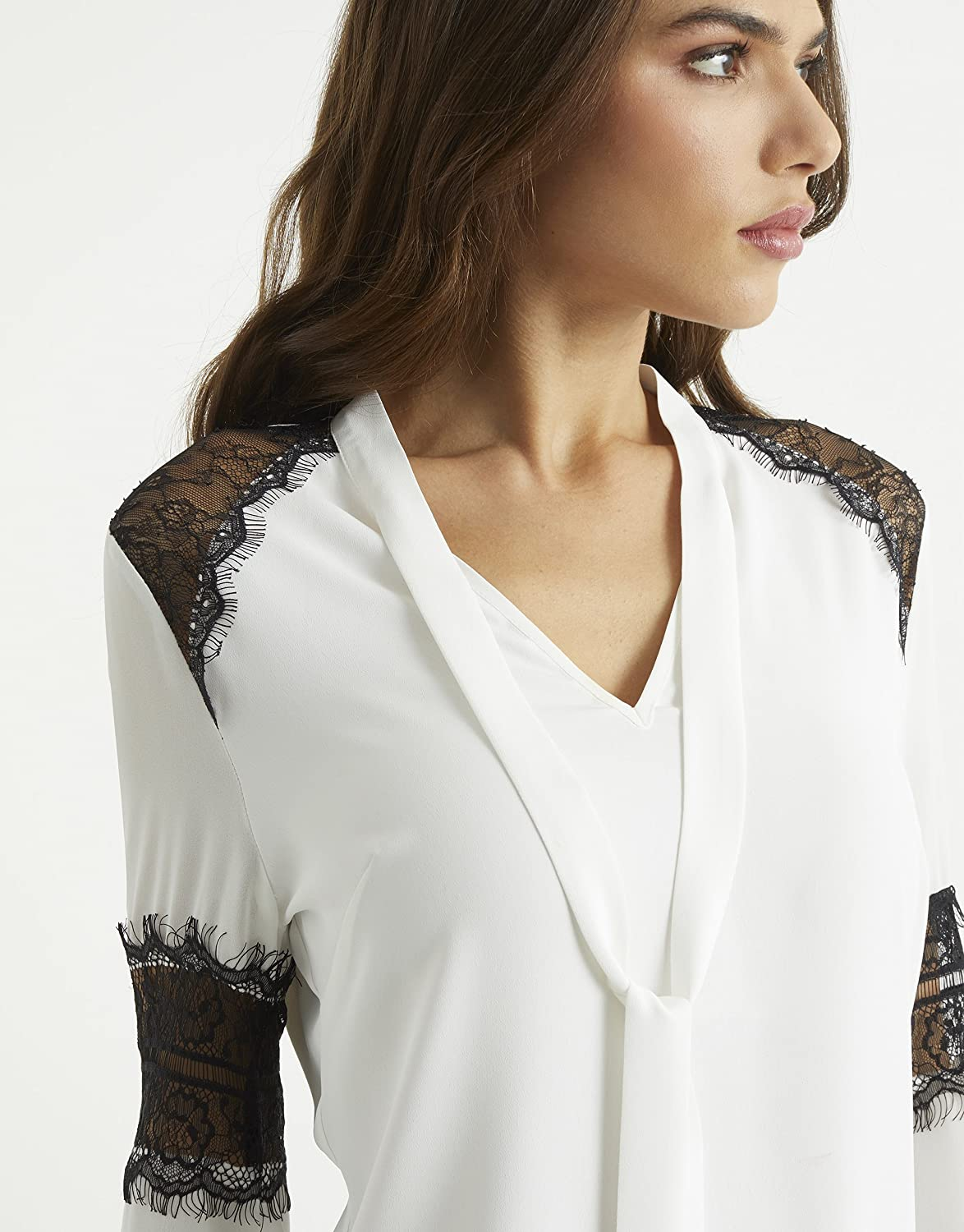 3eac152c8ec238 Lipsy High Neck Lace Blouse | Toffee Art