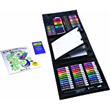 Art 101 Kids PVC 154-Piece Trifold Easel Art Set With Bonus Coloring Book