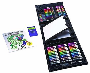 Amazon.com: Art 101 Kids PVC 154-Piece Trifold Easel Art Set With ...