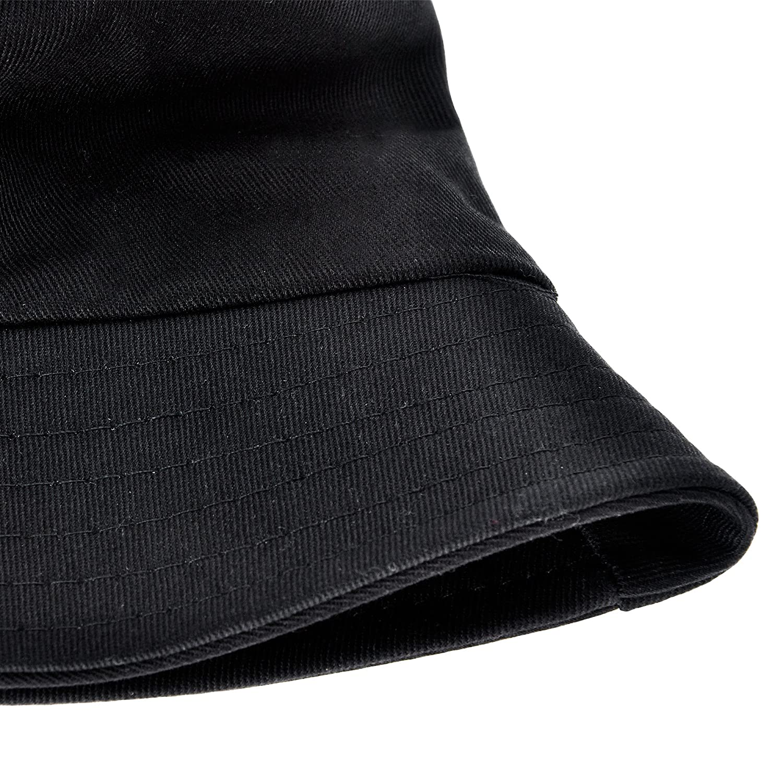ZLYC Unisex Fashion Embroidered Bucket Hat Summer Fisherman Cap for Men Women Teens Pineapple Black
