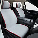 Car Seat Cushion, Universal Full Set Car Interior Seat Covers Non-Slip Car Seat Protector Pad Mat, Includes 2 Car Seat Covers and Rear Row Seat Cover Cushion, Fit for Most Car, Truck, SUV