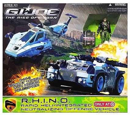 Amazon Com G I Joe The Rise Of Cobra R H I N O Rapid Heli