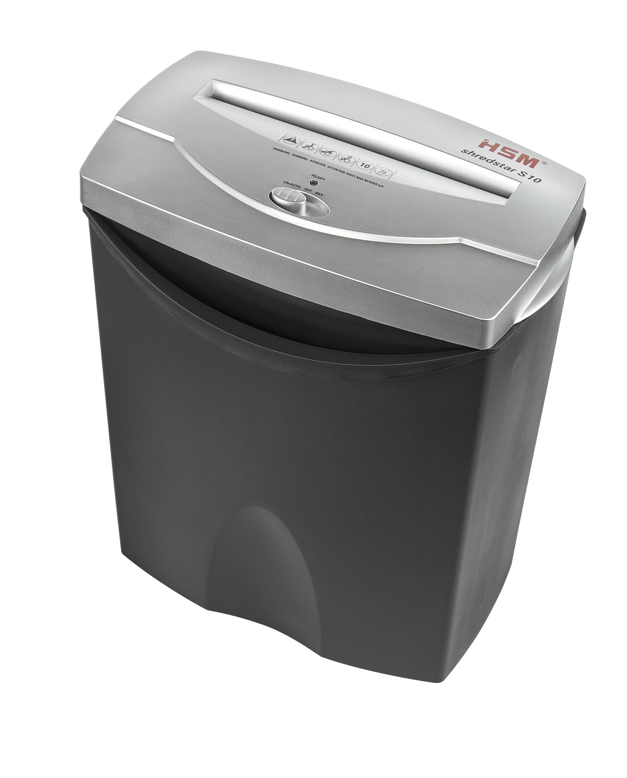 HSM shredstar S10, 10-Sheet Strip-Cut, 4.3-Gallon Capacity Shredder