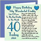 Daddy 40th Happy Birthday Card